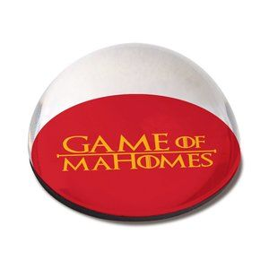 KC Chiefs Game of Mahomes Crystal Dome Magnet